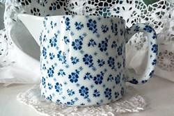 Régi kék virágos porcelán kiöntő