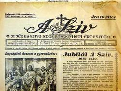1946 június 1 Hetilap  /  A SZÍV  /  RÉGI EREDETI ÚJSÁG Szs.:  6407