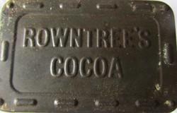 Rowntree's Cocoa KAKAÓ SZECESSZIÓS PLÉH BÁDOG FÉM DOBOZ GYÜJTŐI 1918 ALJA TETEJE DOMBOR NYOMOTT