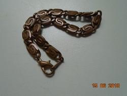 Réz valamikor aranyozott karlánc,karperec-16 cm