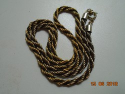 Csavart mintás aranyozott nyaklánc-40 cm
