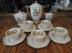 Art deco francia porcelán teáskészlet