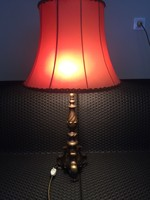 Barokk nagyméretű bronz asztali lámpa!