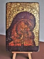Álomszép, nagyobb méretű utazó ikon fatáblán, az Istenszülő Eleusza ikonja