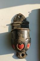 Öntöttvas szentektvíztartó, antik ritka.