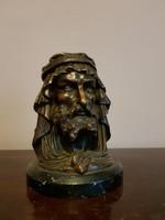 Arab pásztor fej alakú dohánytartó Kuriózum