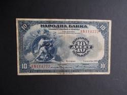Szerb-Horvát-Szlovén Királyság - 10 dinár 1920