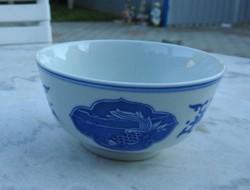 Vintage kínai rizses mélytál - rizstál - kínai hal mintával