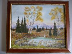 H. Rausch szignóval egy gyönyörű tájkép