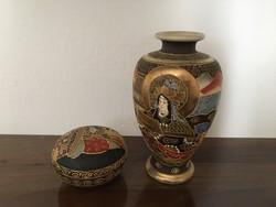 Kínai váza és bonbonier porcelán