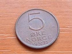 NORVÉGIA 5 ŐRE 1973