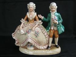 Német porcelán barokk pár