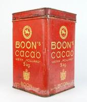 0R604 Antik BOON'S CACAO holland pléhdoboz 31 cm
