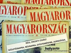 1989 szeptember 15  /  MAGYARORSZÁG  /  SZÜLETÉSNAPRA RÉGI EREDETI ÚJSÁG Szs.:  5380