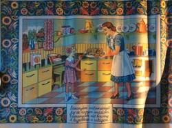 Papír régiség konyhai falvédő