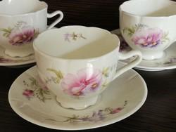 Kézzel festett ,különleges porcelán  kávéskészlet !