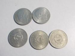 5 darab 1967-es 5 forintos