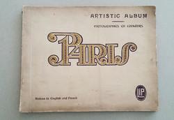 Régi Paris képalbum 1910-es évekbeli Párizsi fotók albuma fotóalbum