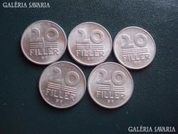 20 Fillér 1989
