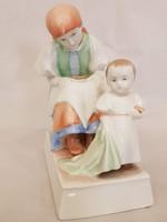 Zsolnay nagyon ritka Sinkó András tervezte anya gyermekével