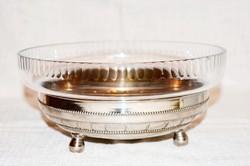 Régi üvegbetétes asztalközép  ( DBZ 0035 )
