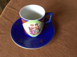 Kávéscsésze, porcelán, cseh alt wien