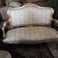 Antik barok sofa 130x50x110cm