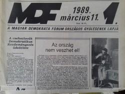MDF Országos Gyűlésének Lapja 1-3.
