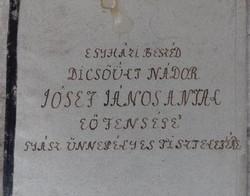 Kézirat - Egyházi beszéd József nádor gyászünnepélyére