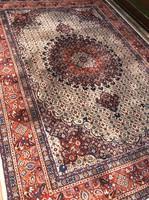 Csodás iráni Moud kézicsomózású szőnyeg
