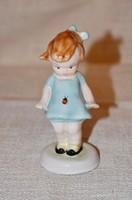 Bodrogkeresztúri katicás kislány világos kék ruhában  ( DBZ 007 )