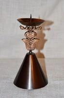 Iparművészeti bronz gyertyatartó  DBZ 0084 )