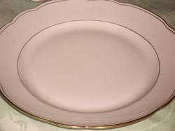 Csodaszép   cseh lapos tányér aranycsíkos