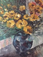 Csodás virágcsendélet, olajfestmény