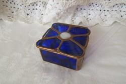 Tiffany üveg ékszeres dobozka