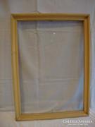 Üvegezett régi fa képkeret , falc 51,5x36,5 cm