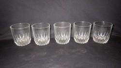 5 db üveg pohár