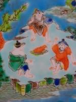 Kézzel festett kínai tealevél tartó porcelán, japán, keleti