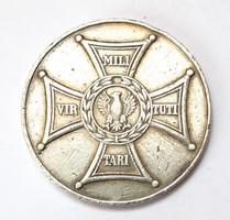 Lengyel világháborús ezüst érdemérem 1944