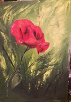 Szentes Zsuzsanna 70 X 50 cm-es virágcsendélete