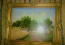 Régi olaj festmény szignozva