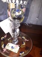 Kézzel festett gyertya tartó