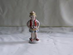 Német Lippelsdorfi hibátlan porcelán gombát szedő kislány