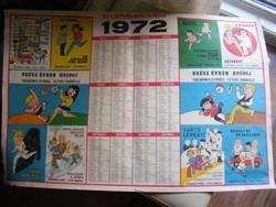 Sportpropaganda fali naptár 1972 - Játékkártyagyár
