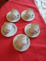 5 db porcelán kávés csésze alátéttel együtt