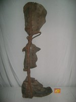 Antik láb protézis, műláb, művégtag - járás segítő eszköz - orvostörténeti ritkaság