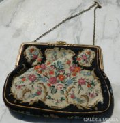 Antik színházi gobelines táska