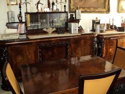 Neobarokk ebédlő garnitúra kompletten, felújítva, kítűnő állapotban eladó
