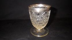 Kutyafejes jelzéssel ezüst peremű talpas pohár