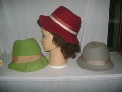 Retro női kalap - három darab